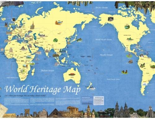 세계문화유산 지도
